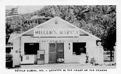 Turn left just before crossing the Big Piney River to take the older alignment through  Devil's Elbow. Here  you truly feel as if you have stepped back in time. Sheldon's Market, which also houses the post office, first began as Miller's Market in 1954.The Elbow Inn Bar and Barbeque Pit was established in 1929 and is one of the oldest original buildings on  Route 66 that still operates as the same type of business.