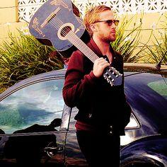 Ryan Gosling + guitar
