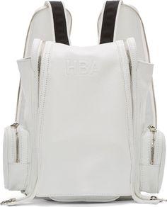 Hood by Air - White Mini Double-Zip Backpack