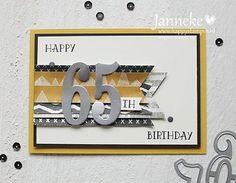 Happy 65th Birthday #happystampin #stampinup #stampinupdemonstratrice #numbersofyears #largenumbers
