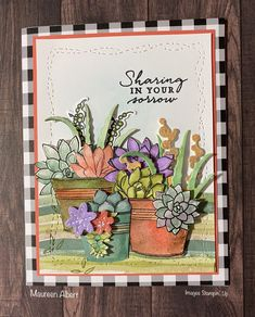 Flower Stamp, Flower Cards, Beautiful Handmade Cards, Stamping Up Cards, Get Well Cards, Masculine Cards, Sympathy Cards, Stamp Sets, Creative Cards
