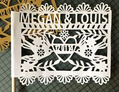 These traditional Mexican paper cut/papel picado flags are a must for any modern Mexican wedding fiesta! Add them in your centrepieces as a super