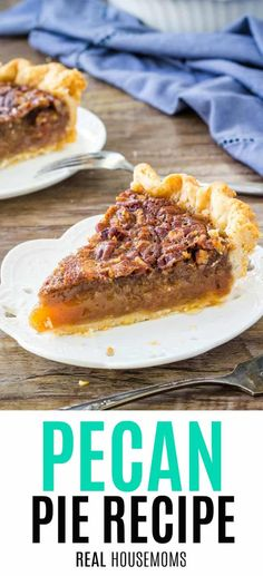 You can't go wrong with this classic Pecan Pie recipe. With a delicious cara… You can't go wrong with this classic Pecan Pie recipe. With a delicious caramel flavor, tons of chopped pecans and a hint of cinnamon – it's the best pecan pie I've ever tried! Nut Pie Recipe, Best Pecan Pie Recipe, Pecan Recipes, Pie Recipes, Fall Recipes, Cinnamon Recipes, Köstliche Desserts, Delicious Desserts, Dessert Recipes