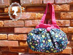 Big shoulder bag in cotton and serge.  Original pattern.