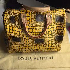 Louis Vuitton Speedy 30 Yellow/Monogram Satchel.