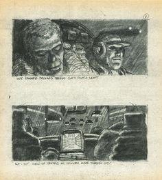 Blader Runner storyboard by Sherman Labby