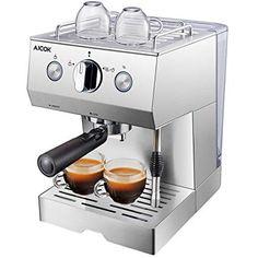 Aicok Coffee maker Espresso 15 Bar Cappuccino and Latte Nozzle foam of Milk Kitchen Supplies, Kitchen Tools, Kitchen Appliances, Best Espresso, Espresso Coffee, Machine A Cafe Expresso, Moka, Coffee Beans, Baristas
