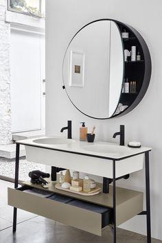 Double floor-standing vanity unit CATINO DOPPIO - Ceramica Cielo