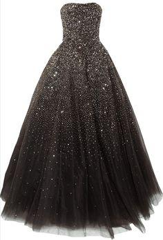 Pretty black sparkle prom dress