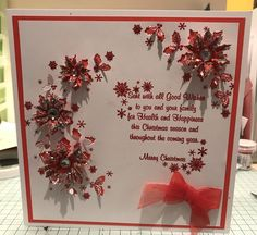 Holly Flower, Chloes Creative Cards, Stamps By Chloe, Christmas Cards, Christmas Tables, Christmas Is Coming, Christmas Inspiration, Handmade Christmas, I Card