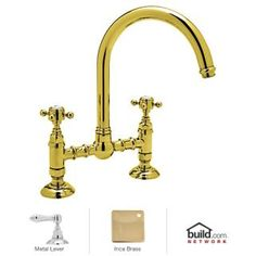 Rohl A1461LM-2 brass kitchen faucet