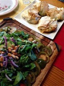Mr Jamie Oliver's Chicken Tikka, Lentils & Spinach Salad on the left ...