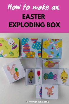 Are you looking for a fun Easter Craft for kids, try this exploding box template. There are over 24 different templates available and this craft is perfect for kids of all ages. #easter #eastercraft #Eastertemplate  Kids Easter Craft template | Kids Easter Craft ideas | Easter Activities for Kids | Easter Exploding Box | Exploding box Craft for kids