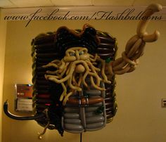 Dead men tell no tales...  Pirates of the Caribbean themed Davy Jones balloon sculpture made at Twist & Shout 2014 by Phileas Flash