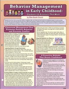 Behavior Management in Early Childhood