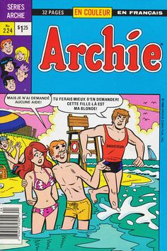 GCD :: Cover :: Archie #224 France, Archie, Comic Books, Comics, Cover, Beach, Daughter, The Beach, Beaches