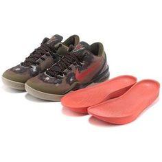 http://www.asneakers4u.com/ Nike Zoom Kobe 8 VIII  System Basketball Shoe Khaki/Red Sale Price: $65.20