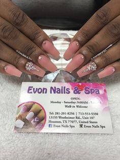 Evon Nails & Spa _ 13155 Westhiemer Rd, Houston, Tx 77077 - 713-553-5350 _ walk in only