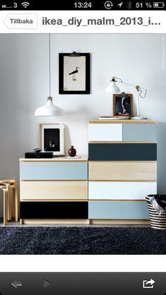 painted Ikea Malm dressers