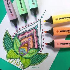 easy drawing marker pastel highlighters stabilo highlighter drawings markers draw simple colors doodles blend doodle