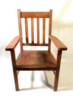 Incroyable Antique Mission Arts U0026 Crafts Style Oak Wood Childrenu0027s Arm Chair, ...