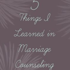5 Things I Learned in Marriage Counseling. These things only scratch the surface of what can be revealed in marriage counseling - but still great! Healthy Marriage, Strong Marriage, Save My Marriage, Marriage Relationship, Marriage And Family, Happy Marriage, Marriage Advice, Healthy Relationships, Failing Marriage