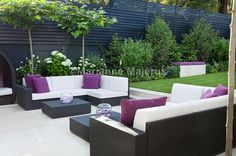 spa garden | Charlotte Rowe Blog Small Garden Design, Small Space Gardening, Small Gardens, Outdoor Gardens, Side Gardens, Modern Gardens, Japanese Gardens, Garden Furniture, Outdoor Furniture Sets