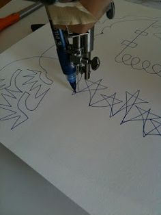 A Few Scraps: Free Motion Quilting Designs: Words.  Practice free motion quilting with a pen.