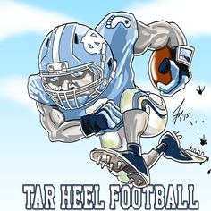 UNC Tar Heels Football Man Cave Decoration Illustration