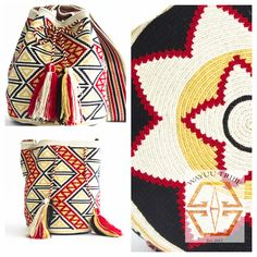 This brown mochilla bag is perfect for fall boho style. Gorgeous details throughout the mochila. The average bag takes 20-30 days to hand weave. All bags are Handmade. Wayuu people are use bight different colors and patterns to tell the story of the weaver. These are all one-of-kind bags. Wayuu tribe bags are $75.00-$ 260.00.They are woven with cotton thread. A nice beach bag or farmer bag that is very sturdy. www.wayuutribe.com #mochila #bohochic #bags @Nina Garcia