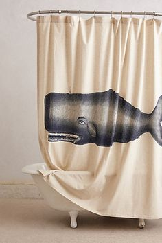 Moby Shower Curtain -  Anthropologie via Richie Raccoon