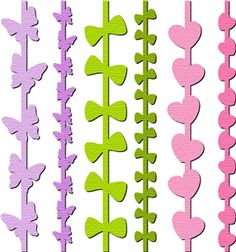 Silhouette Online Store - View Design #10213: borders set 2 butterfly bow heart
