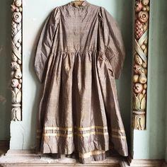 Child's Civil War Era silk dress.  #vintage #antique #civilwarera #antiquechildsdress  #vintageclothing #antiqueclothing #etsy #comingsoon #1860s #marybethhale #historicalfashion #historicalcostume #victorianera #victorianclothing #victorian #etsyvintage #etsyphotoshoot  #etsyshops