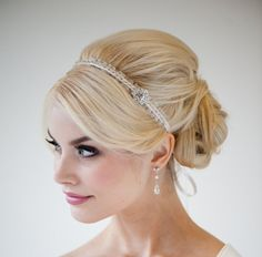 headband. very in at the moment. you wouldn't have to wear a veil with this...