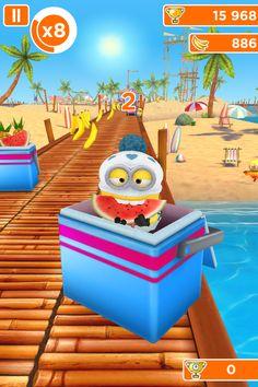 Un minion avec déguisement de bébé à la plage dans l'app. minion rush sur iphone,ipad,ipod Minions, Ipod, Outdoor Decor, Home Decor, Baby At Beach, Bebe, Interior Design, Minion Stuff, Ipods