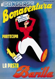 "Over 16,000 copies of Cavadini's ""Concorso Bonaventura"" poster graced the walls of northern Italy in the late 1930's."