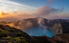 A cold volcanic lake sunrise by Michael Foo on 500px. www.mm-foo.com