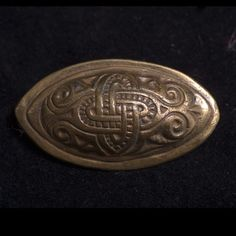 a vintage Kalevala Koru of Finland brooch in early Viking motif, signed with makers mark. Kalevala Koru was established in