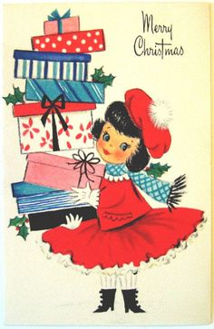 Hallmark Vintage Card  Merry Christmas by starmango on Etsy, $2.00