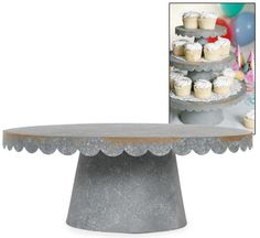 LG SCALLOPED CUPCAKE STAND  				MFG: .MFG Part Number:   				  				  				  				Selected accessories will also be added to cart  				  	  					$32.95