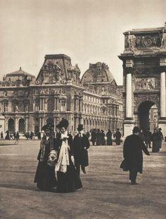 Place du Carrousel in Paris, Paris France, Paris 1900, Old Paris, Vintage Paris, Vintage Pictures, Old Pictures, Old Photos, Palais Des Tuileries, Paris Black And White