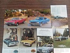 Vintage car ads 1960 1970 Buick Oldsmobile Pontiac Grand Prix GS Vista Wagon