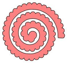 Rolled flower svg Free