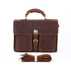 First Layer Leather Plaid Retro Large Capacity Shoulder Bag To Suit The PeopleS Convenience Wearable Travel Bag Mens Leather Storage