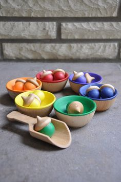 Rainbow Sorting Acorns – A Montessori and Waldorf Inspired Educational Toy  Children love to sort and categorize everything they find. The