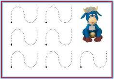 Educación Preescolar: 12 plantillas para trabajar trazos de la escritura