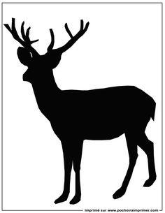Pochoir imprimer pochoir cerf a vos pinceaux - Dessin bois de cerf ...