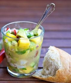 Summer mango and tuna ceviche