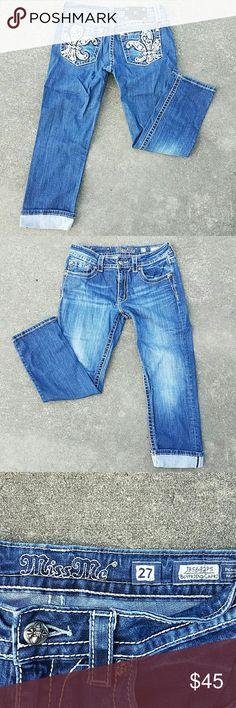 Miss Me Jeans boyfriend capri sz 27 Excellent preowned Miss Me Jeans Ankle & Cropped