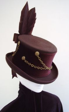 Brown top hat steampunk  wolf Keeper. £85.00, via Etsy.